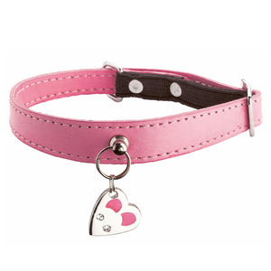 Bobby Delice Collection Leather Cat Collar