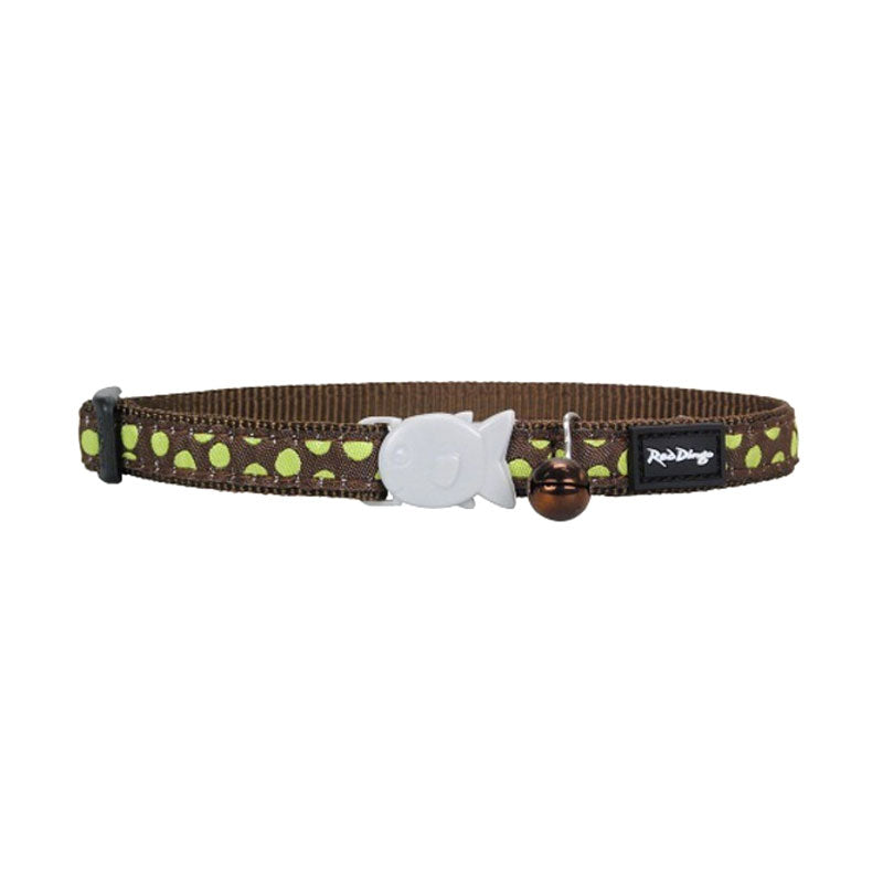 Red Dingo Green Spots On Cat Collar