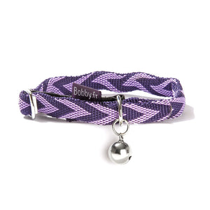 Bobby Chevron Collection Nylon Cat Collar