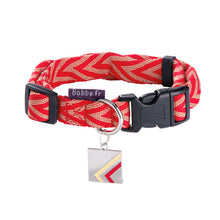 Load image into Gallery viewer, Bobby Chevron Collection Nylon Dog Collar