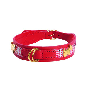 Bobby Chic Leather Dog Collar