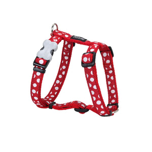 Red Dingo White Spots on Dog Harness