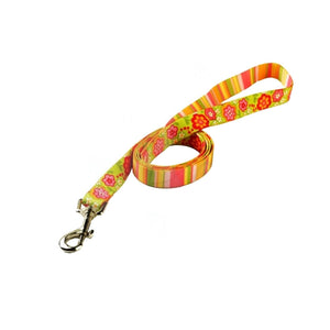 Yellow Dog Design Green Bouquet With Stripes Dog Lead