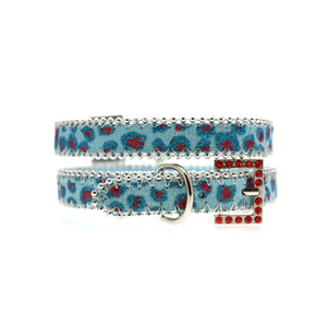 Handcrafted Cool Blue Bling Collar