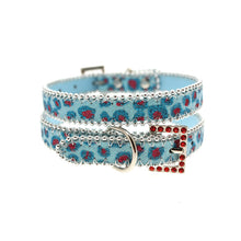 Load image into Gallery viewer, Handcrafted Cool Blue Bling Collar