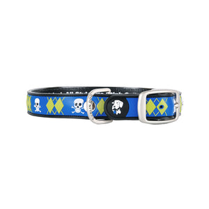 Dublin Dog All Style No Stink Waterproof Dog Collar Argyle Mutiny