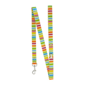 Striped Neon Canvas Diamante Bone Lead