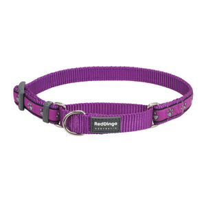 Red Dingo Paw Prints Half Check (Martingale) Collar