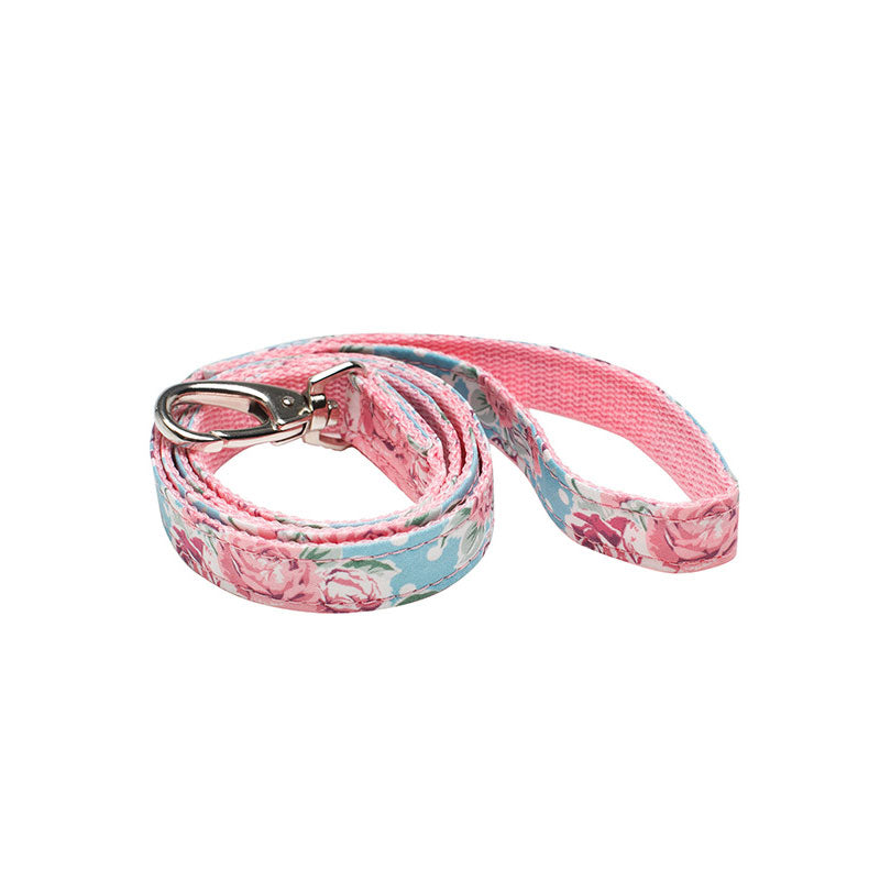 Pink - Blue Floral Fabric Lead