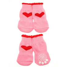 Load image into Gallery viewer, Pink Hearts Pet Socks
