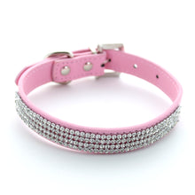Load image into Gallery viewer, Diamante Doggy Leather Collar