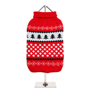 Red - White Snowball Sweater