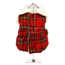 Load image into Gallery viewer, Red Highland Tartan Fleece-Lined Coat