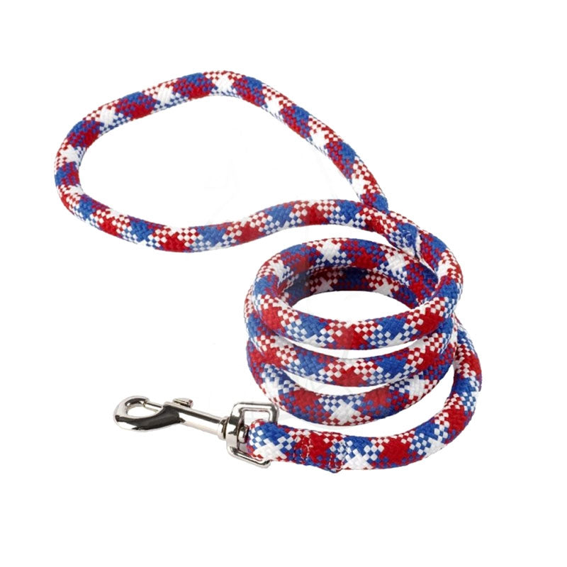 Yellow Dog Design Red, White & Blue Braided Lead