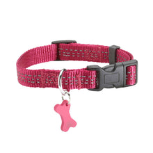 Load image into Gallery viewer, Bobby Safe Collection Reflective Nylon Dog Collars