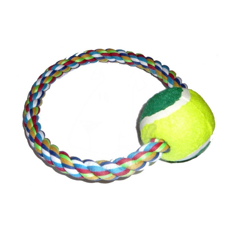 Rope Ring With Tennis Ball