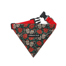 Load image into Gallery viewer, Urbanpup Skull & Roses Bandana