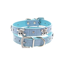 Load image into Gallery viewer, Skull & Crossbones Diamante Collar
