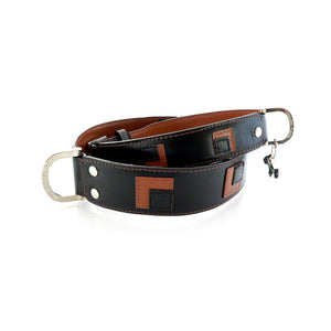 Hamish McBeth Leather Square Dance Dog Collar