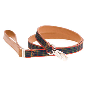 Tartan Leash Blue