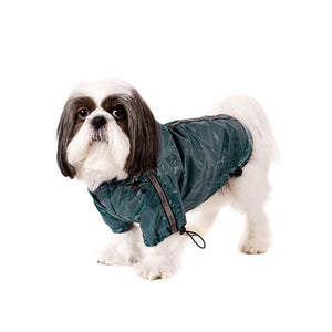 Teal Blue Fleece-Lined Raincoat