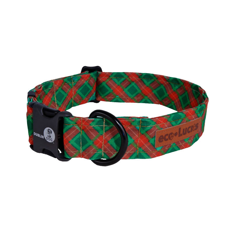 Dublin Dog Winter Wonders Yule Tide Eco Lucks Dog Collar