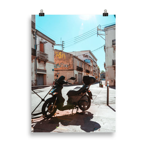 """Apache scooter à Montpellier"" by ND creative (Poster) - ÈNDÉ"