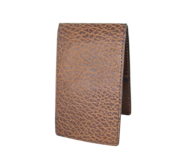 Custom brown bison yardage book