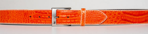 Orange columbian crocodile belt