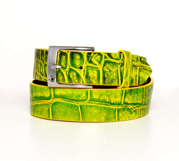 """Bergamot"" Hand-Painted Belt"