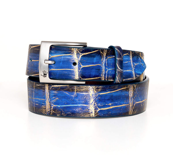 """Poseidon"" Hand-Painted Belt"