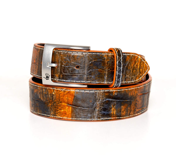 """Industrial Rust"" Hand-Painted Belt"