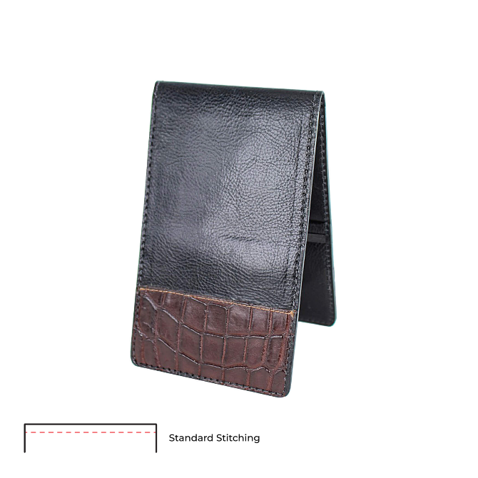 Custom Leather With Alligator Tips Yardage Book Cover - Customer's Product with price 159.00