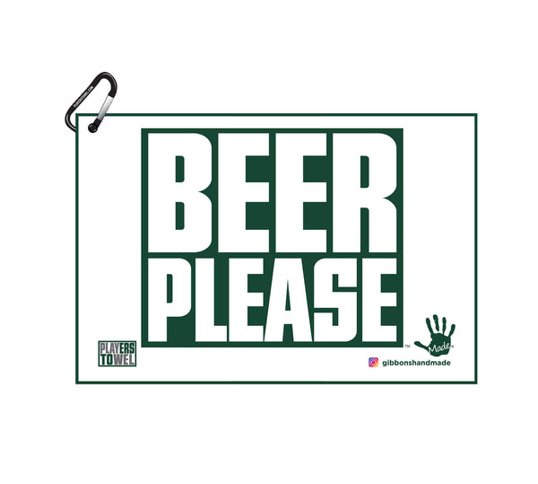 """Beer Please"" Golf Towel"