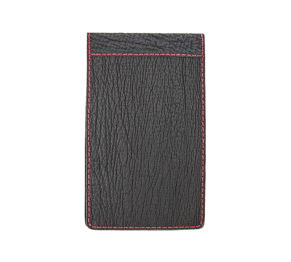 Black shark skin yardage book cover
