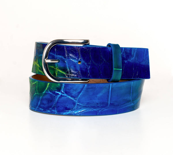 """Peacock"" Hand-Painted Belt"