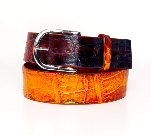 """Lava"" Hand-Painted Belt"