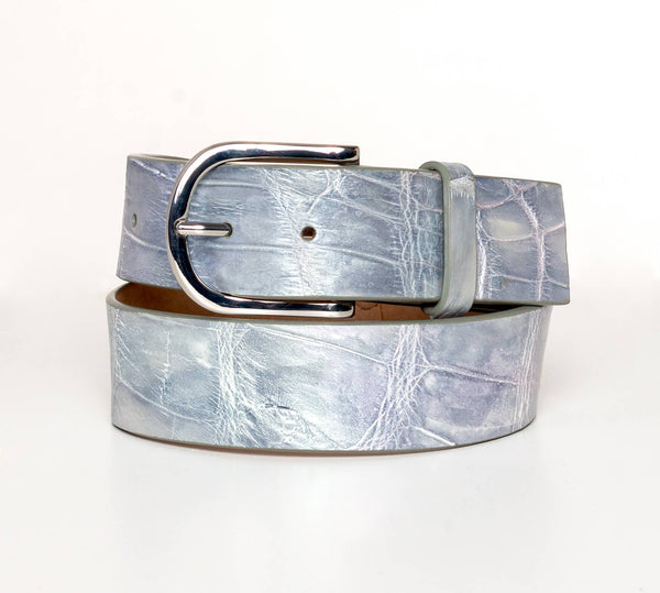 """Metallic Opal"" Hand-Painted Belt"