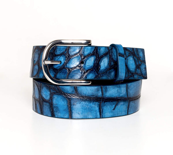 """Aegean Sea"" Hand-Painted Belt"