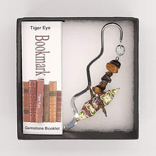 Load image into Gallery viewer, Origami Crane Bookmark with Tiger Eye