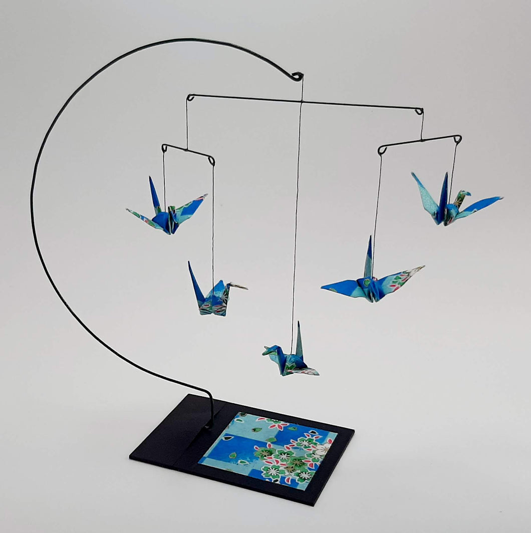 Desktop Crane Mobile - Light Blue