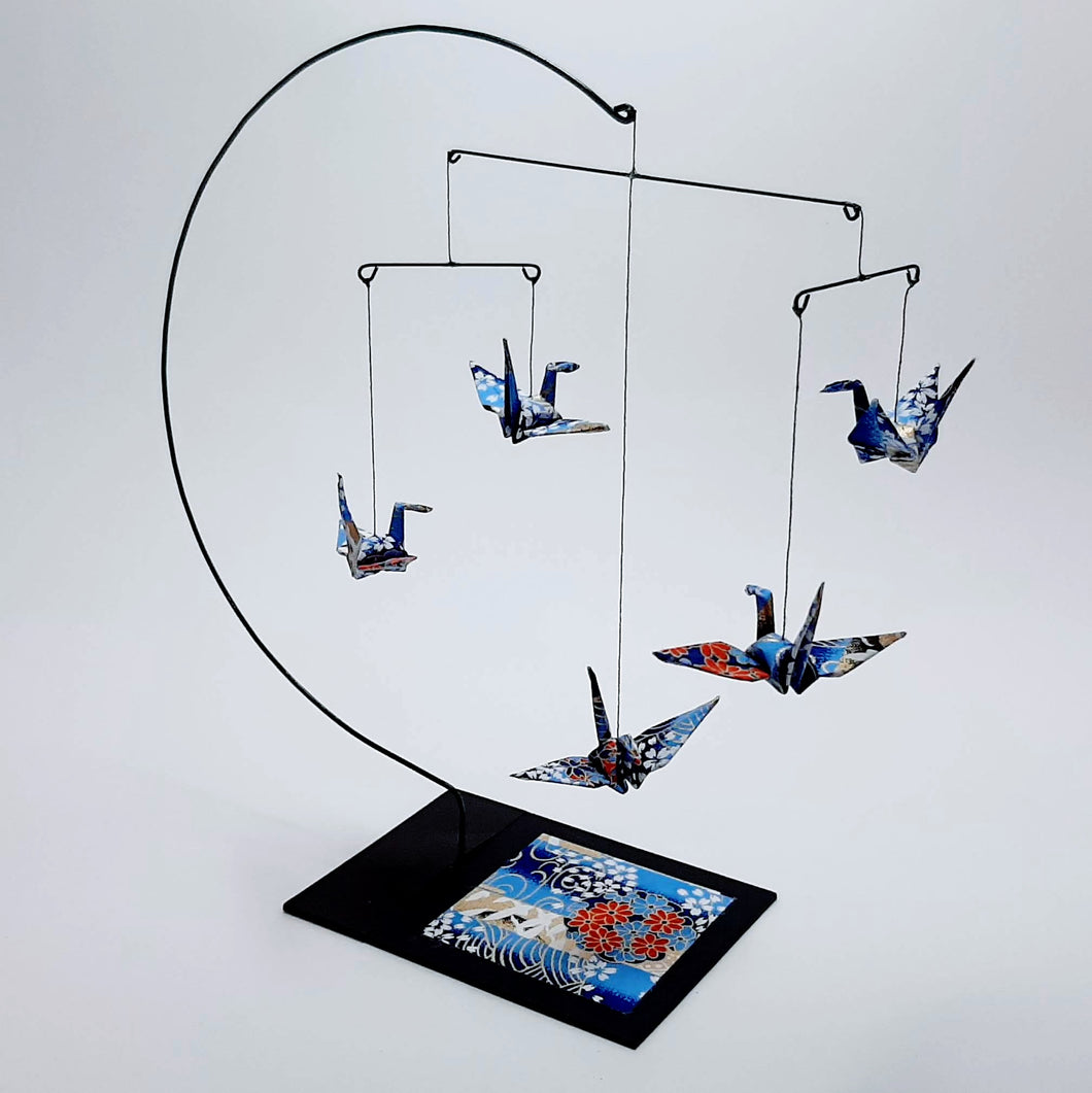 Desktop Crane Mobile - Blue & Gold