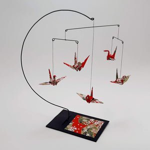 Desktop Crane Mobile - Red & Fans