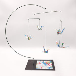 Desktop Crane Mobile - Light Blue Flowers & Fans