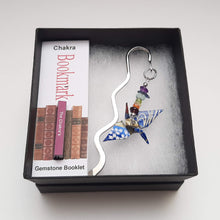Load image into Gallery viewer, Origami Crane Bookmark with Chakra Stones