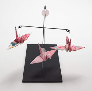 Mini Crane Mobile - Rose Quartz