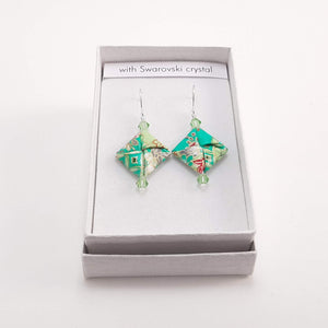 Earrings in presentation box