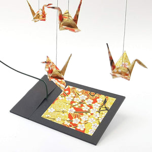 Desktop Crane Mobile - Gold/Orange