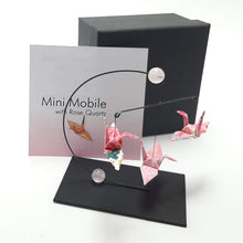 Load image into Gallery viewer, Mini Crane Mobile - Rose Quartz