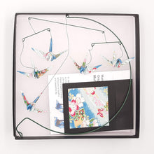 Load image into Gallery viewer, Desktop Crane Mobile - Light Blue Flowers & Fans